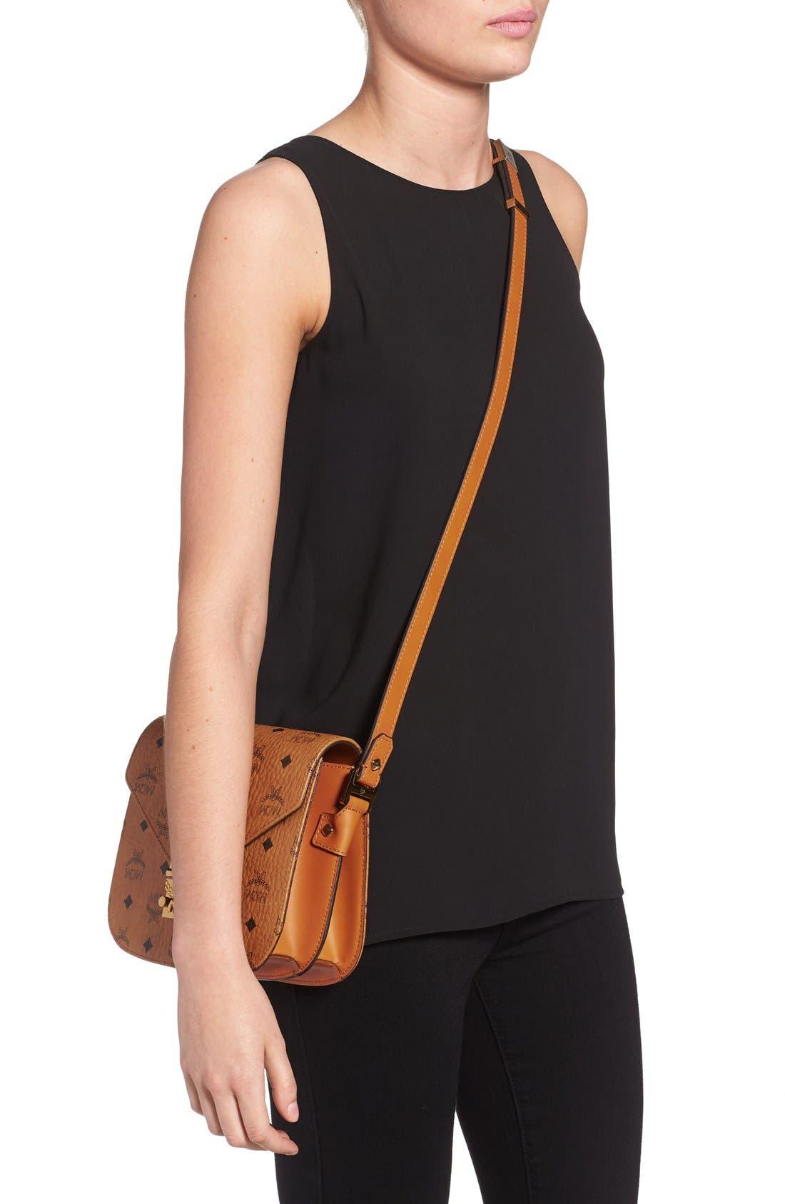 Alternate Image 2  - MCM 'Small Patricia' Visetos Coated Canvas Crossbody Bag