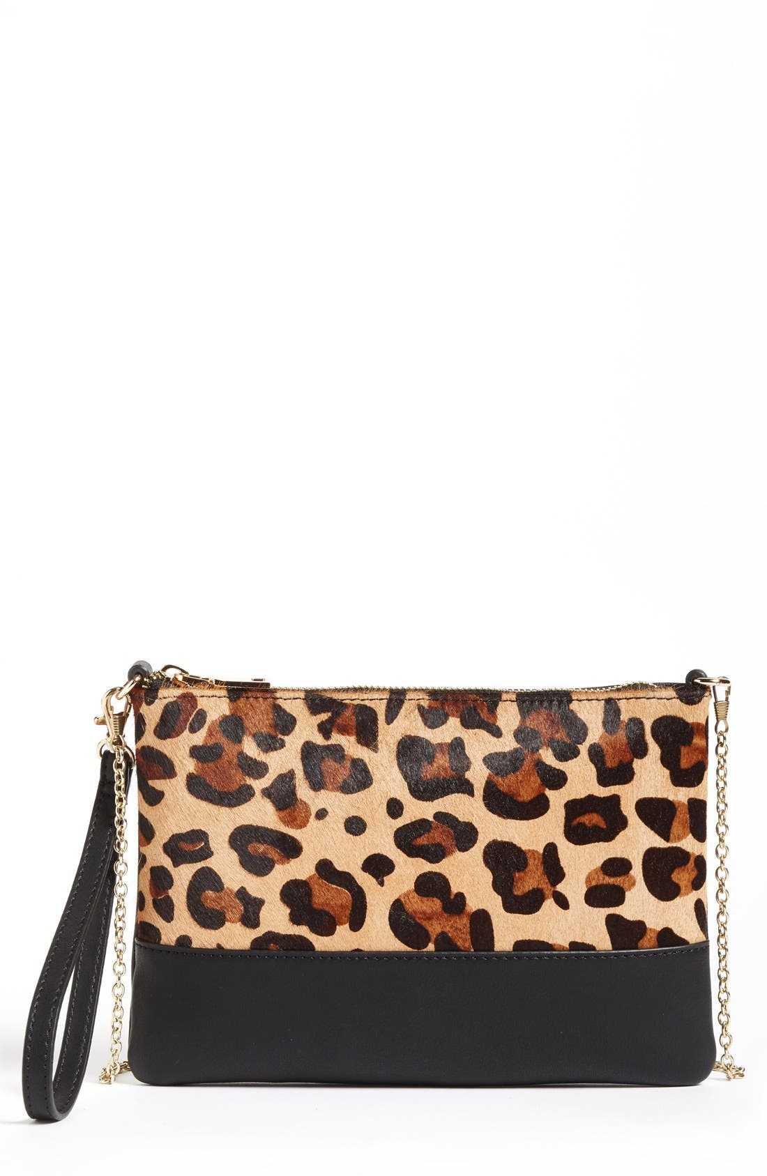 Alternate Image 1 Selected - Phase 3 Genuine Calf Hair Flap Clutch