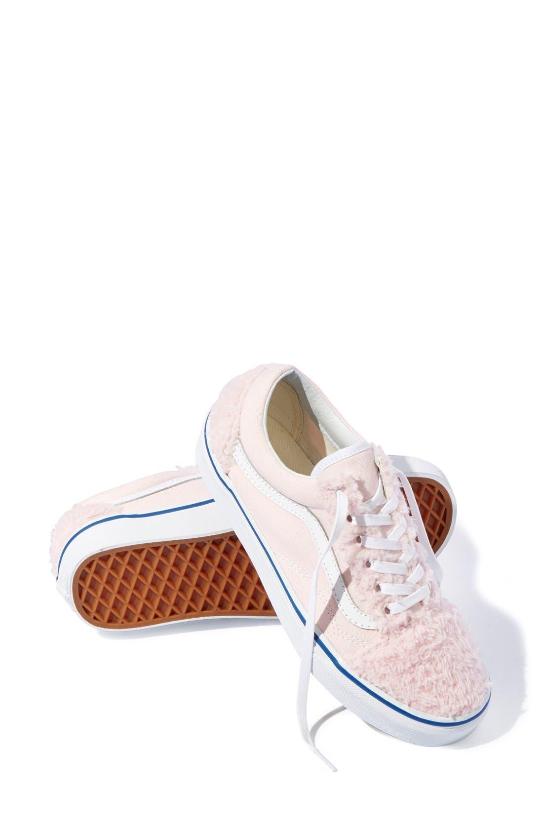 Alternate Image 6  - Vans 'Old Skool' Faux Shearling & Canvas Sneaker (Unisex) (Nordstrom Exclusive)