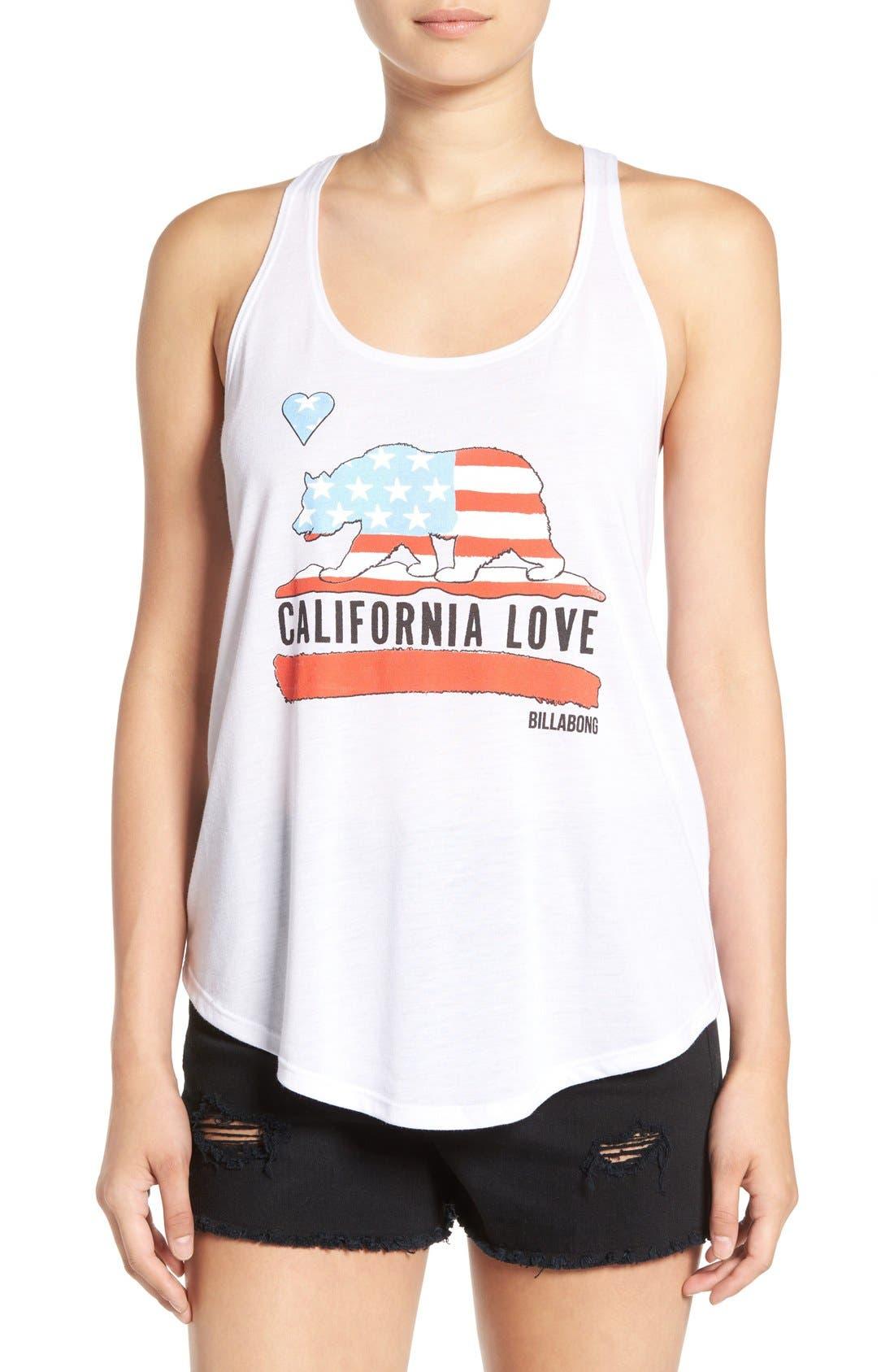 Alternate Image 1 Selected - Billabong 'California Love' Graphic Tank