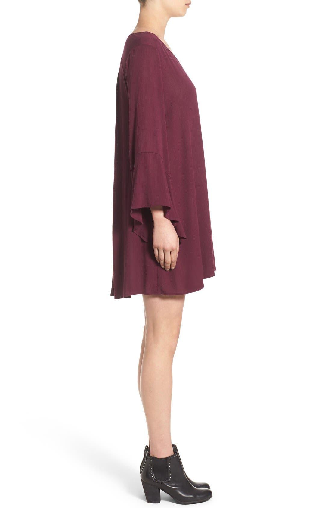 Alternate Image 3  - Lush 'Whitney' Bell Sleeve Woven Shift Dress