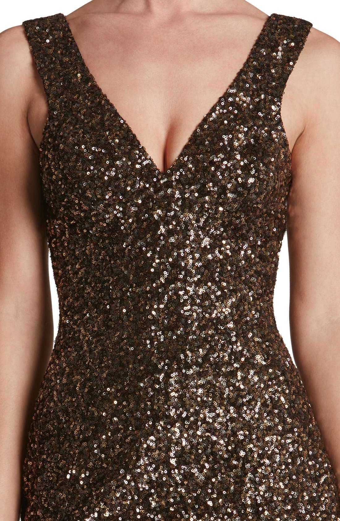 Alternate Image 6  - Dress the Population 'Sam' Plunge Sequin Body-Con Dress