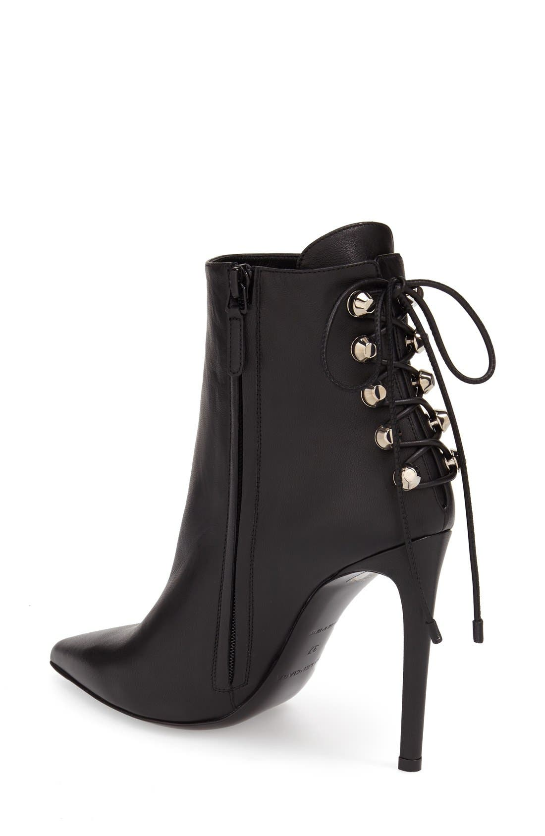 Alternate Image 2  - Balenciaga Lace-Up Back Pointy Toe Bootie (Women)