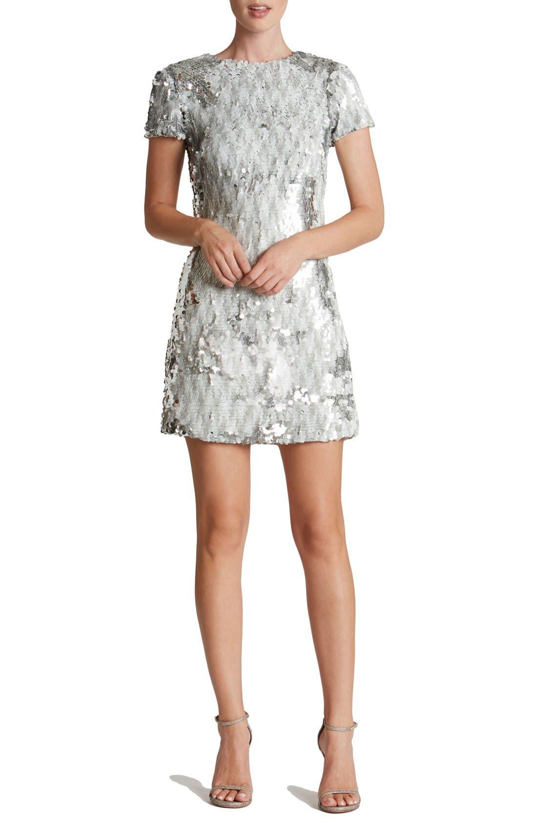 Alternate Image 1 Selected - Dress the Population 'Ellen' Sequin Sheath Dress