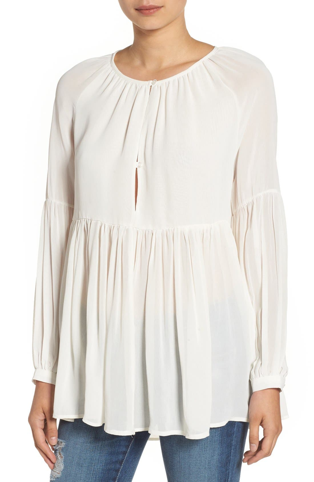 Alternate Image 1 Selected - Sincerely Jules 'Cameron' Chiffon Blouse