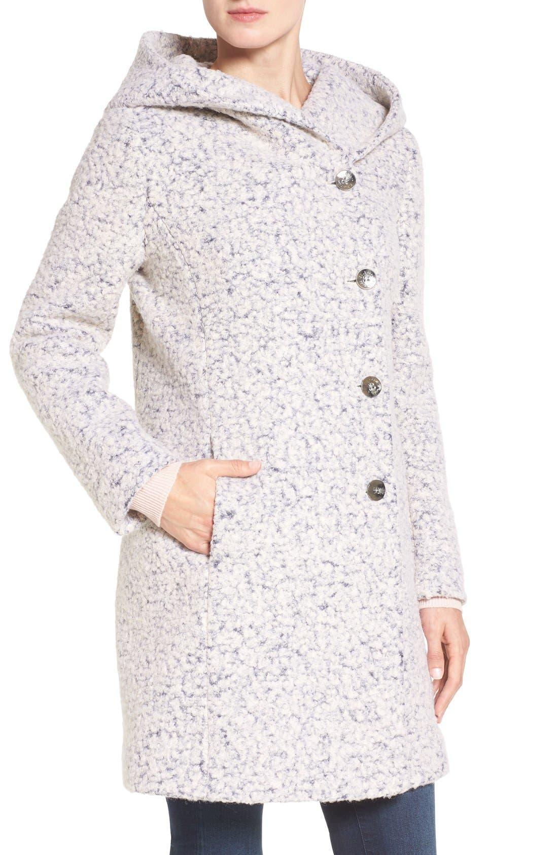Alternate Image 4  - Cole Haan Signature Hooded Bouclé Coat
