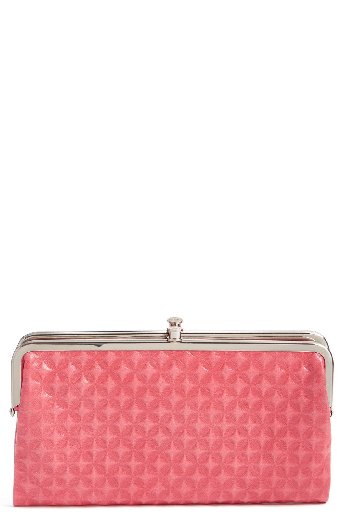 Main Image - Hobo 'Lauren' Embossed Leather Double Frame Clutch