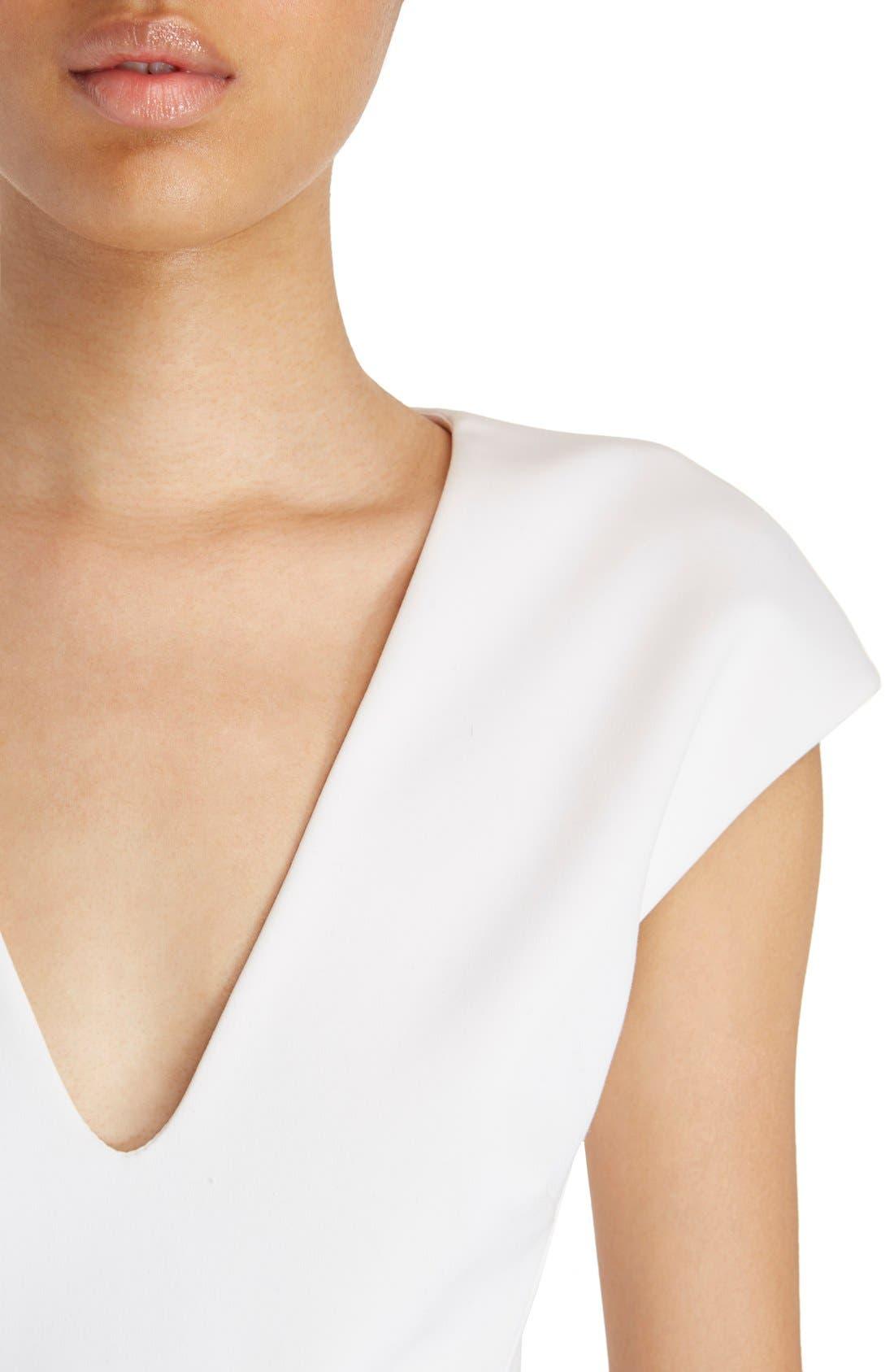 Alternate Image 6  - Victoria Beckham Cap Sleeve Cotton Blend Sheath Dress