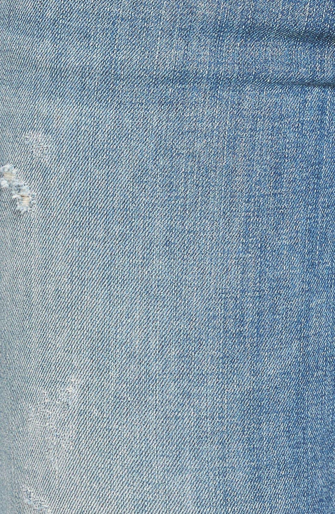 Alternate Image 5  - J Brand Ripped Crop Skinny Jeans (Mischief)
