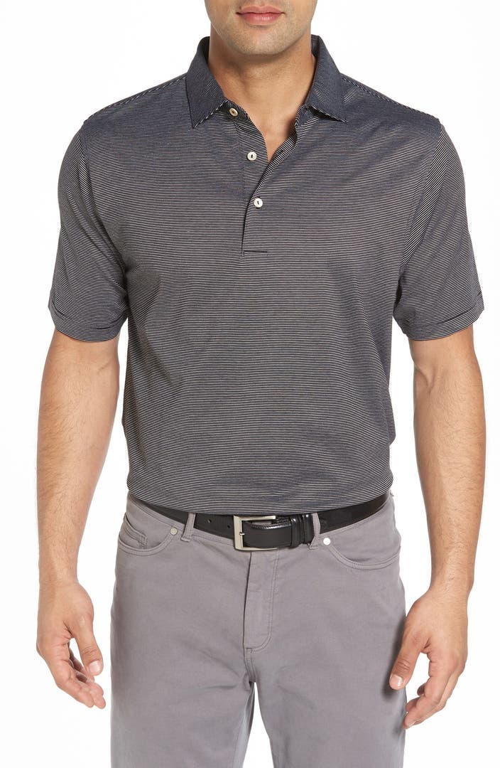 Peter millar 39 finch 39 s stripe lisle 39 jersey golf polo for Peter millar golf shirts