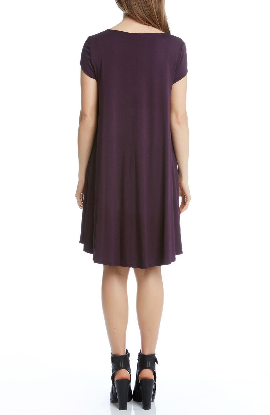 Alternate Image 2  - Karen Kane 'Maggie' Cap Sleeve Trapeze Dress