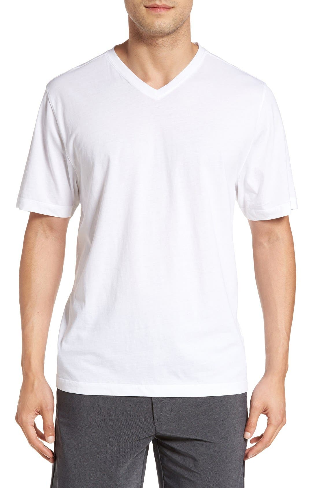 Alternate Image 1 Selected - Cutter & Buck 'Sida' V-Neck T-Shirt (Big & Tall)