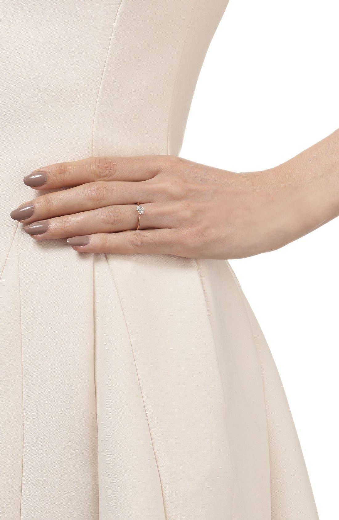 Alternate Image 2  - Monica Vinader 'Siren' Small Pavé Diamond Stacking Ring