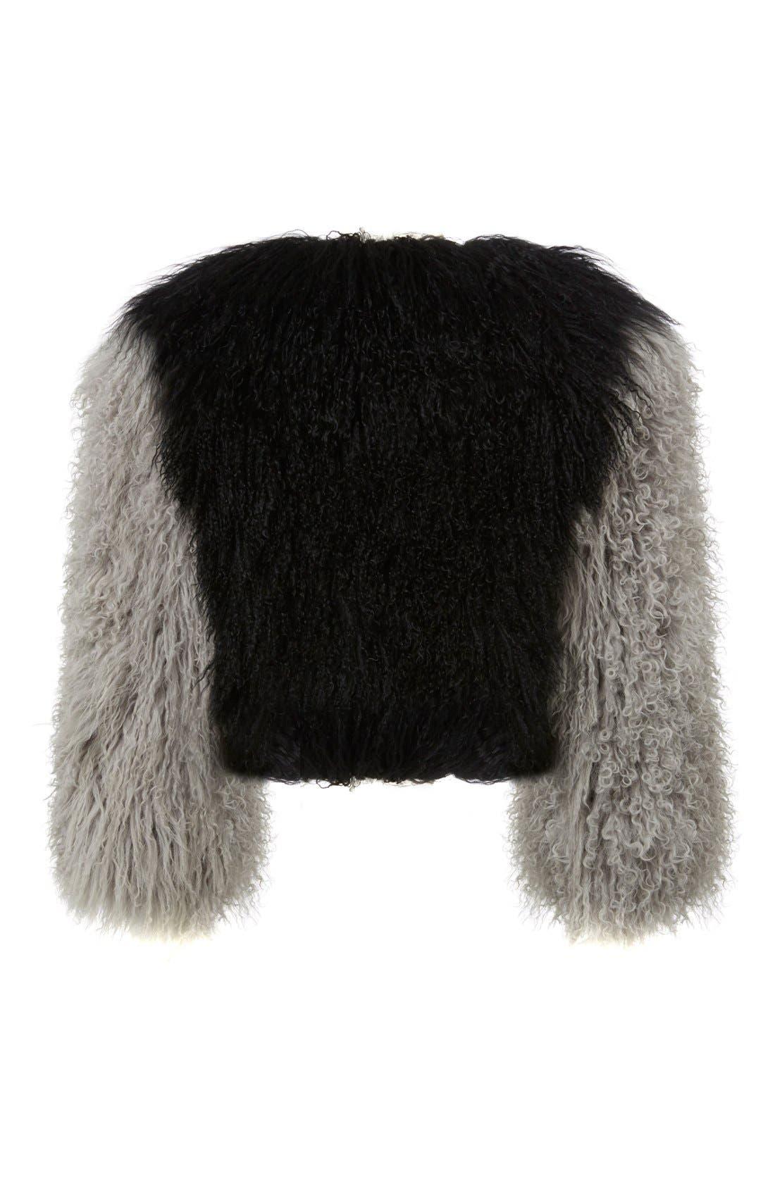 Alternate Image 3  - Charlotte Simone 'Classic Fuzz' Genuine Mongolian Lamb Fur Bolero