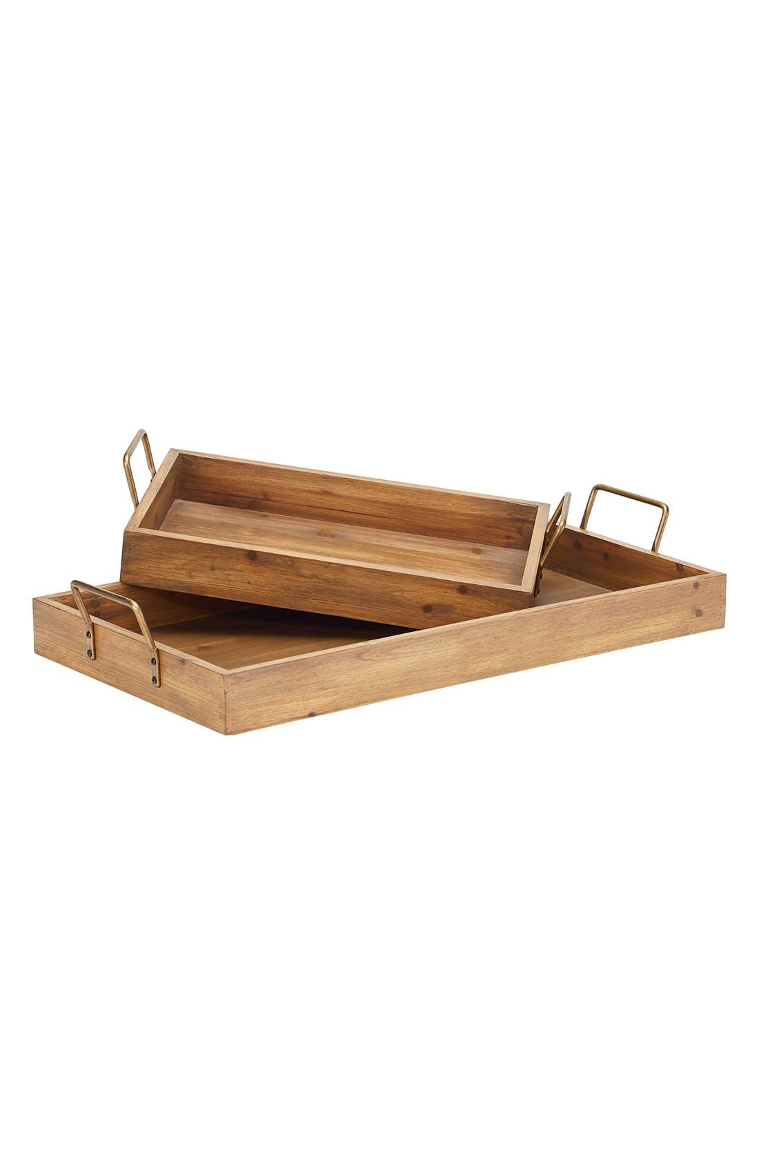 Alternate Image 1 Selected - Magnolia Home Wooden Breakfast Trays (Set of 2)