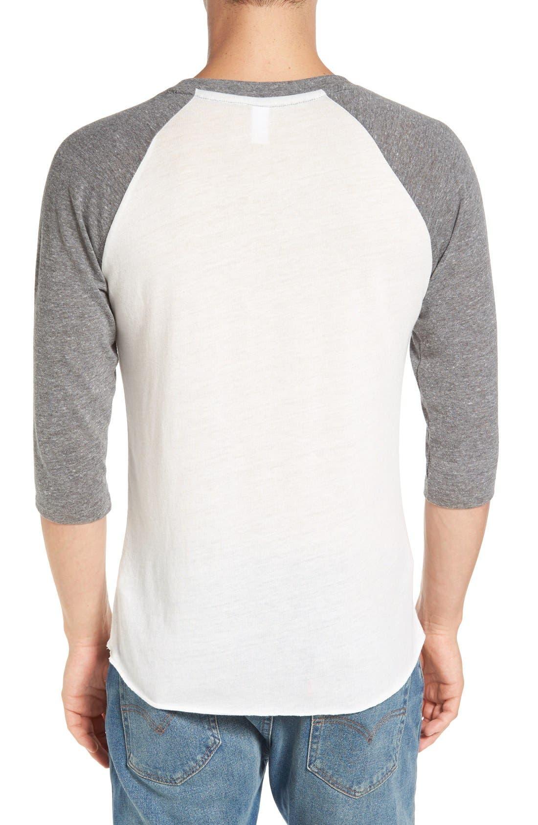 Alternate Image 2  - Alternative Colorblock Baseball T-Shirt