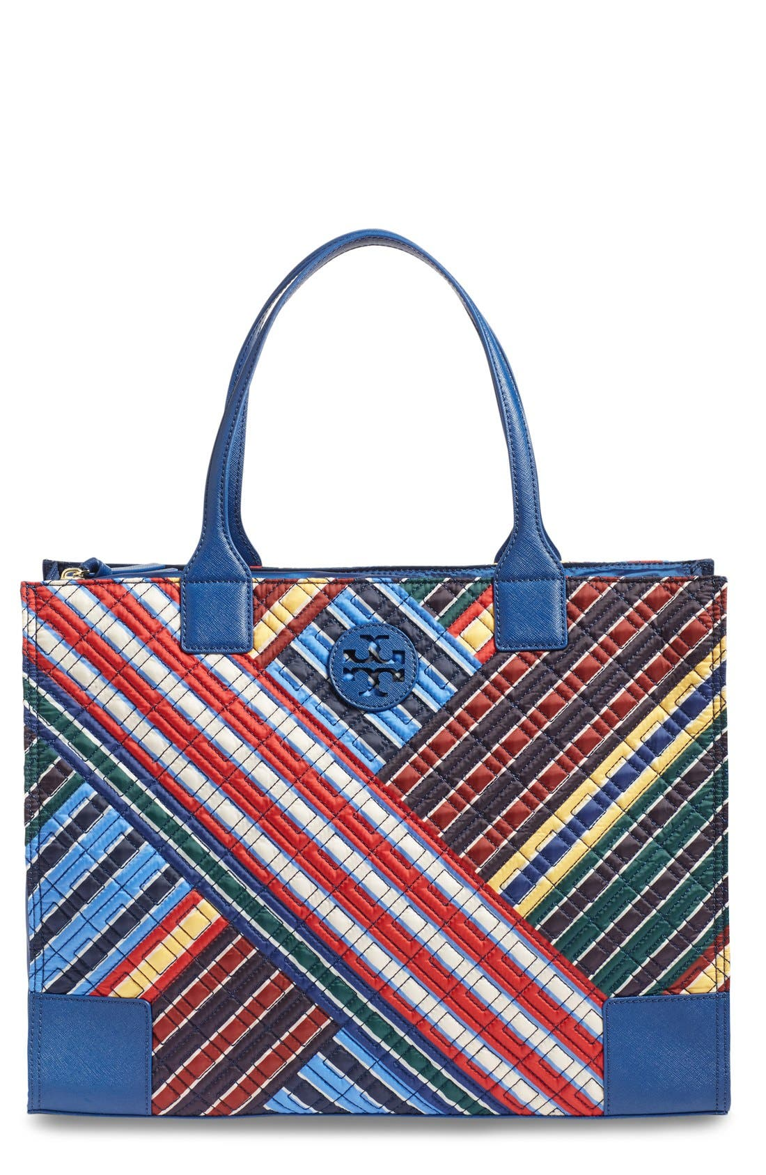 Main Image - Tory Burch 'Ella - Quilted Stripe' Tote