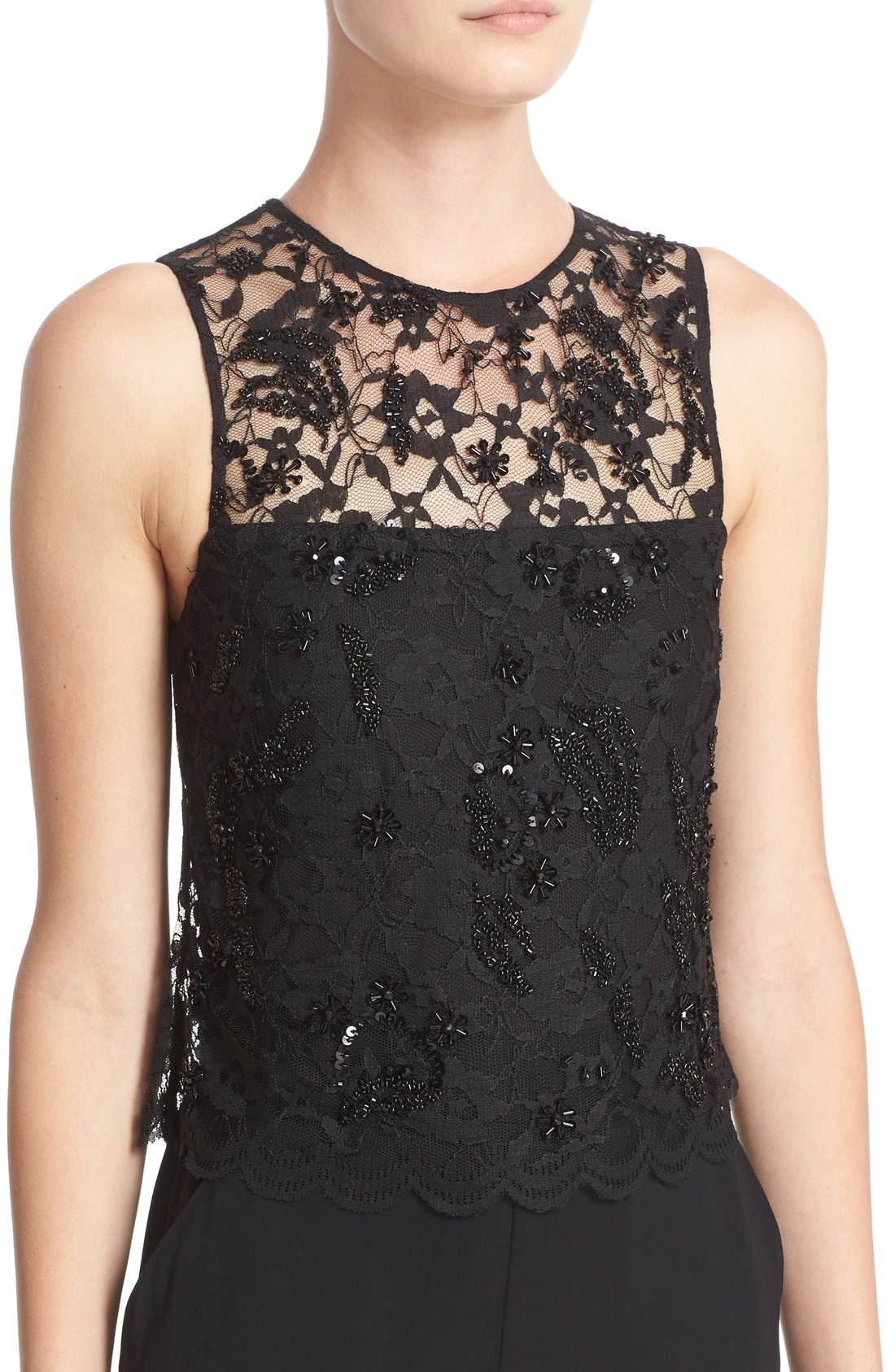 Alternate Image 4  - Parker 'Maddie' Embellished Lace Overlay Jumpsuit