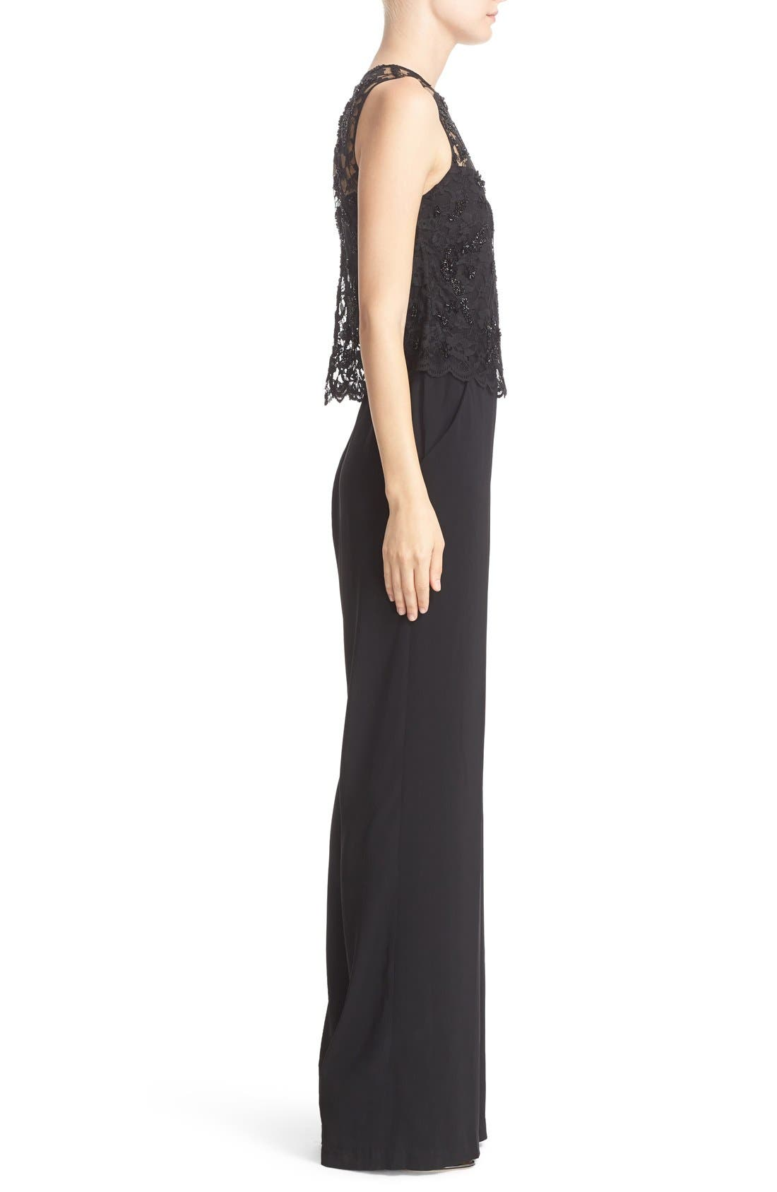 Alternate Image 3  - Parker 'Maddie' Embellished Lace Overlay Jumpsuit