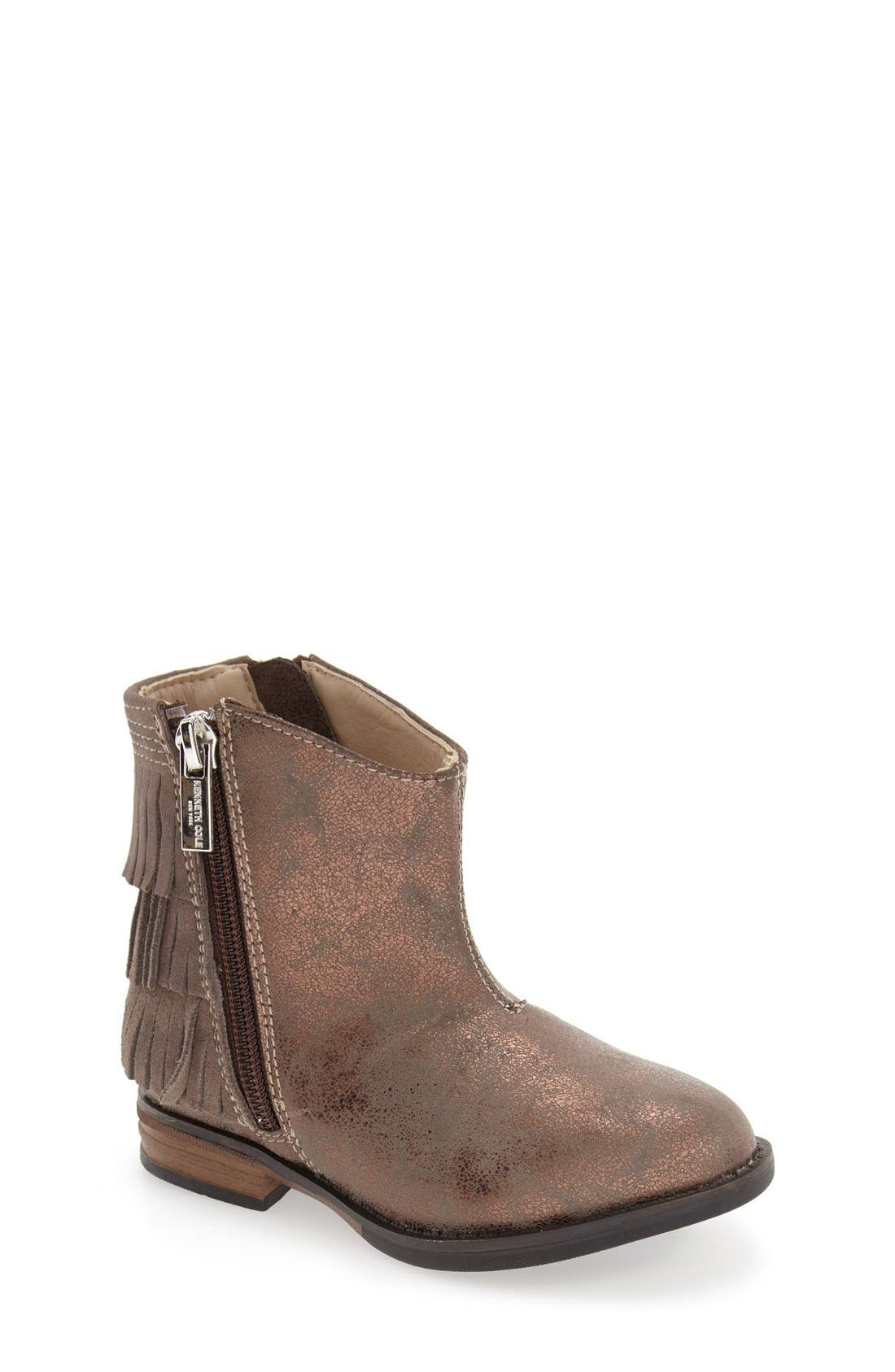 Main Image - Kenneth Cole New York 'Downtown' Tiered Fringe Bootie (Toddler, Little Kid & Big Kid)