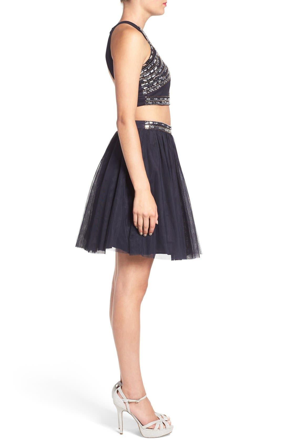 Alternate Image 3  - Blondie Nites Embellished Two-Piece Skater Dress