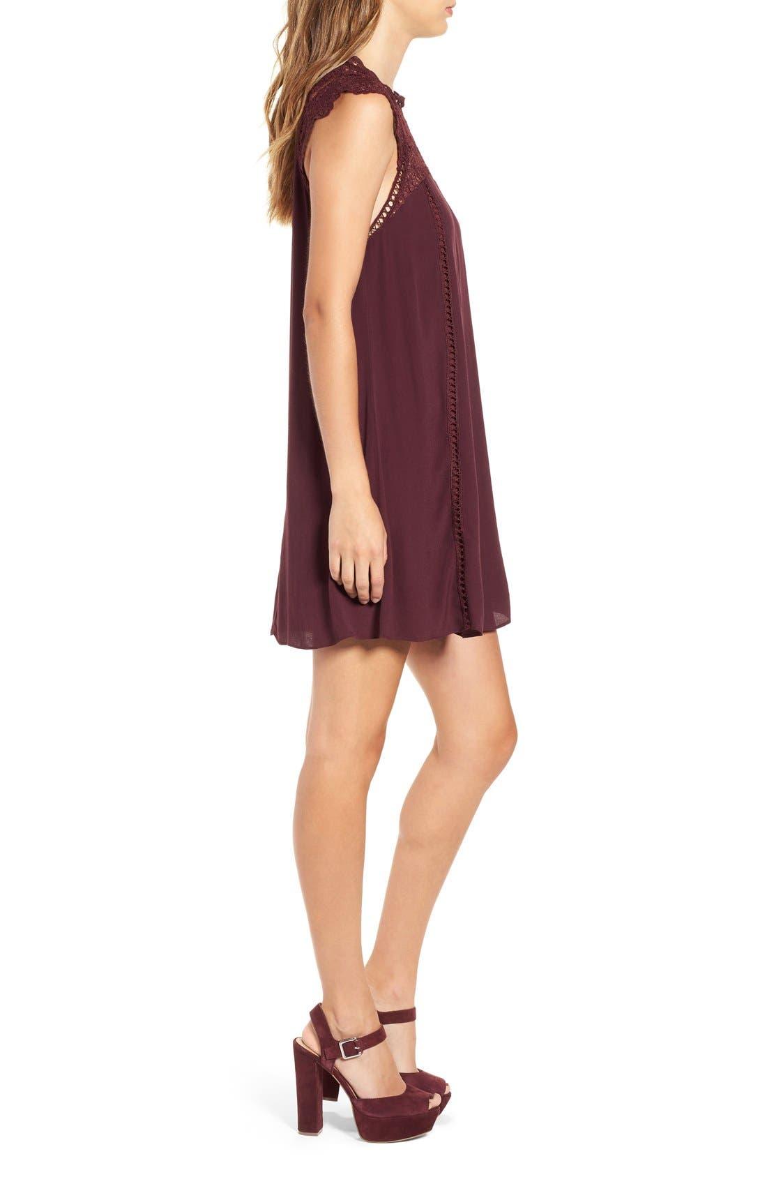 Alternate Image 3  - 4SI3NNA Lace Yoke Shift Dress