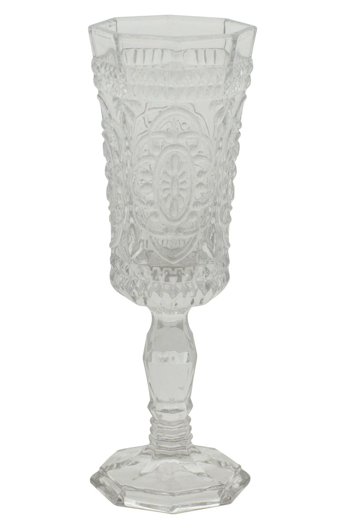 10 Strawberry Street 'Vatican' Glass Champagne Flutes (Set of 6)