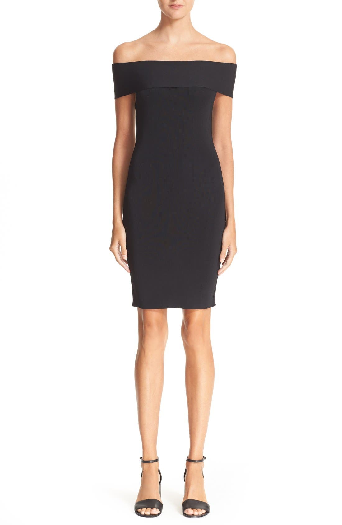 Alternate Image 1 Selected - T by Alexander Wang Off the Shoulder Dress