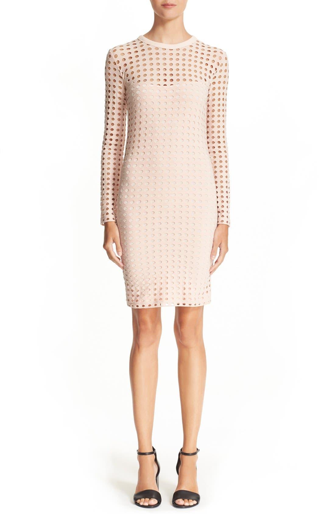 Main Image - T by Alexander Wang Circle Cutout Jacquard Dress
