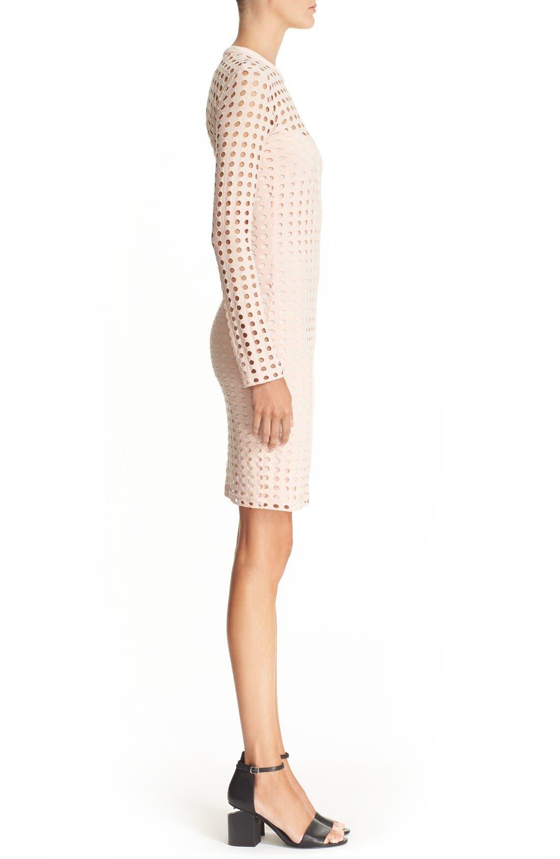 Alternate Image 3  - T by Alexander Wang Circle Cutout Jacquard Dress