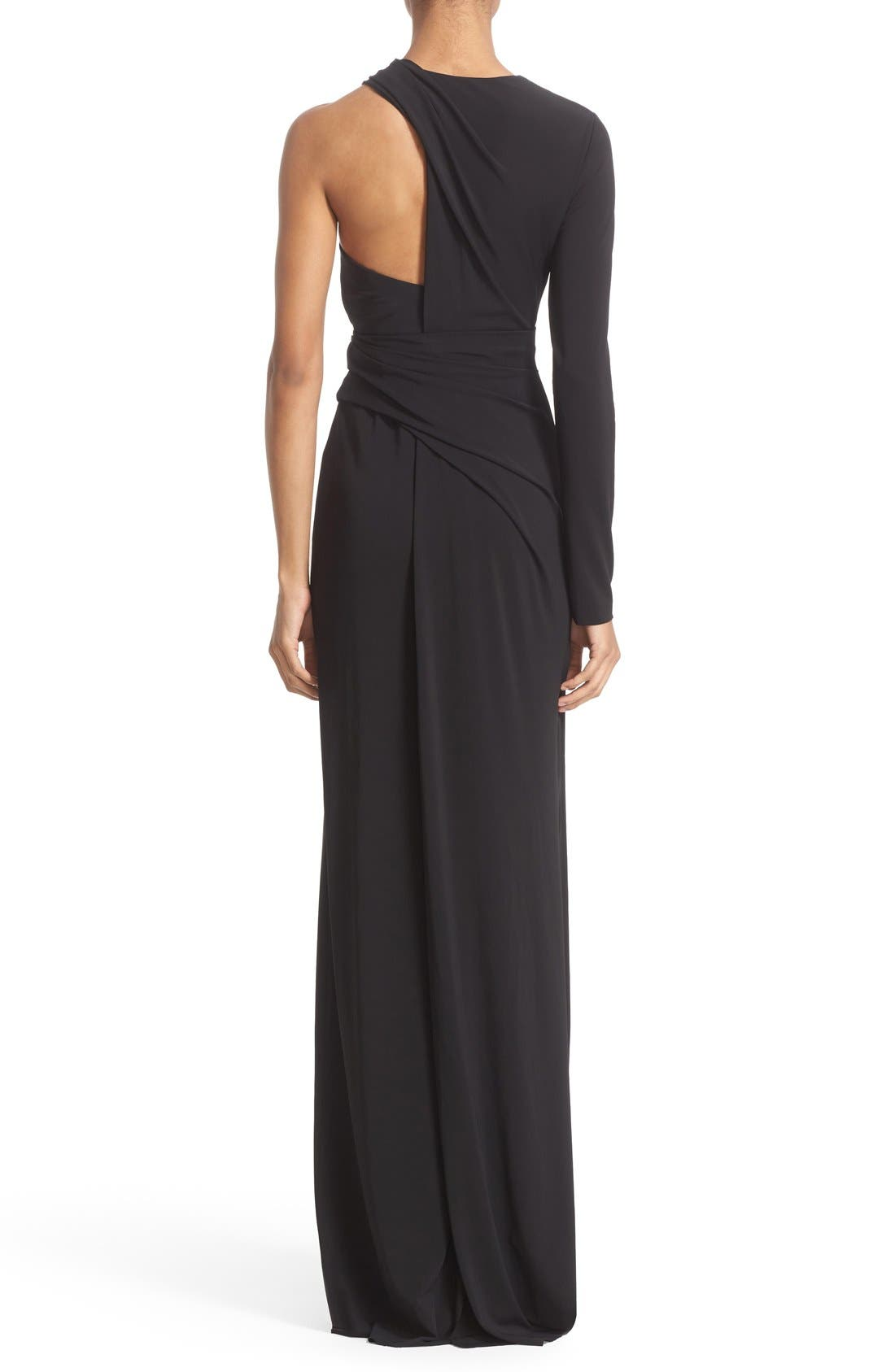 Alternate Image 2  - Alexander Wang Draped Asymmetrical One-Sleeve Gown
