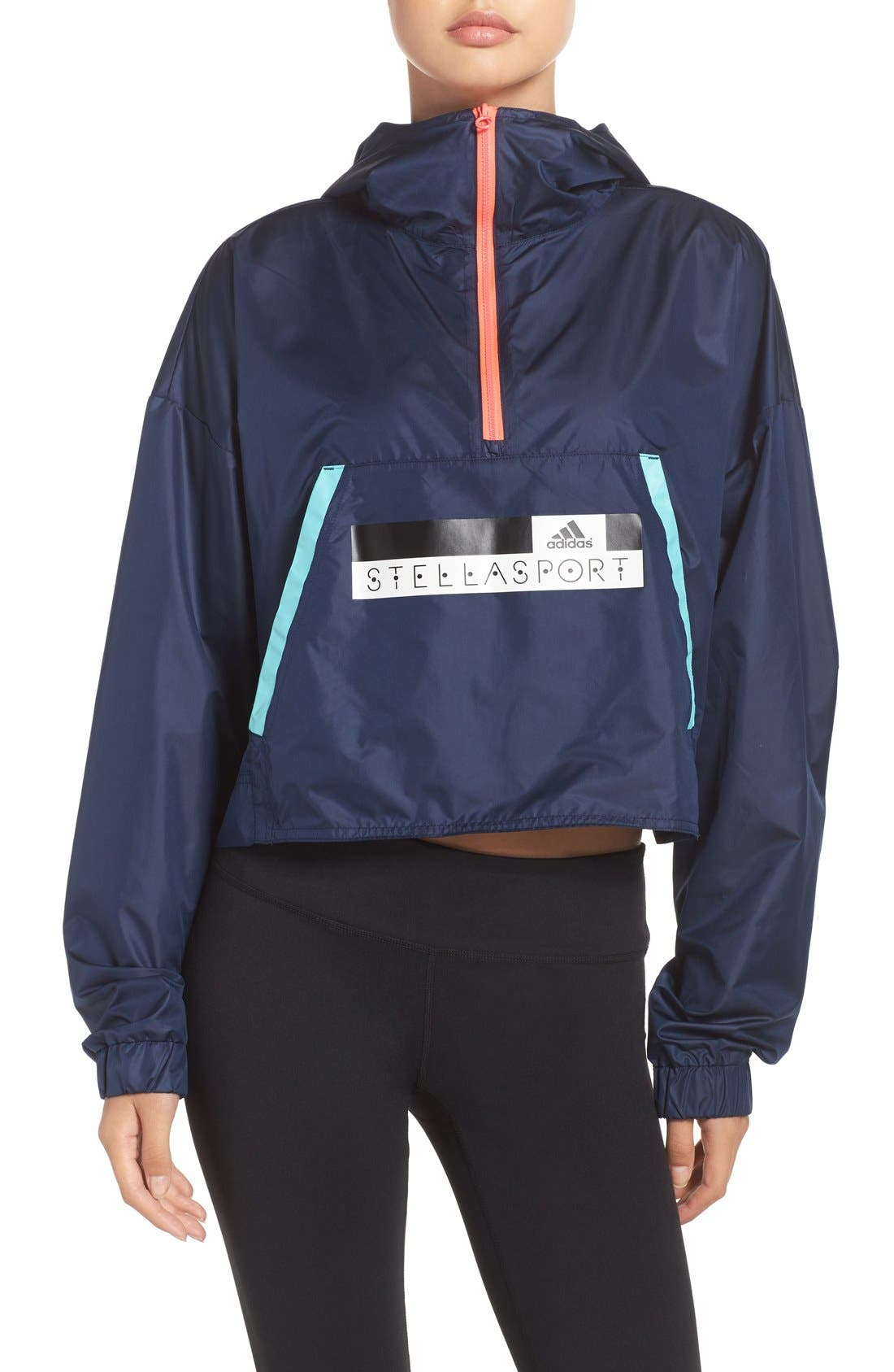 Alternate Image 1 Selected - adidas StellaSport Glow Climalite® Windbreaker