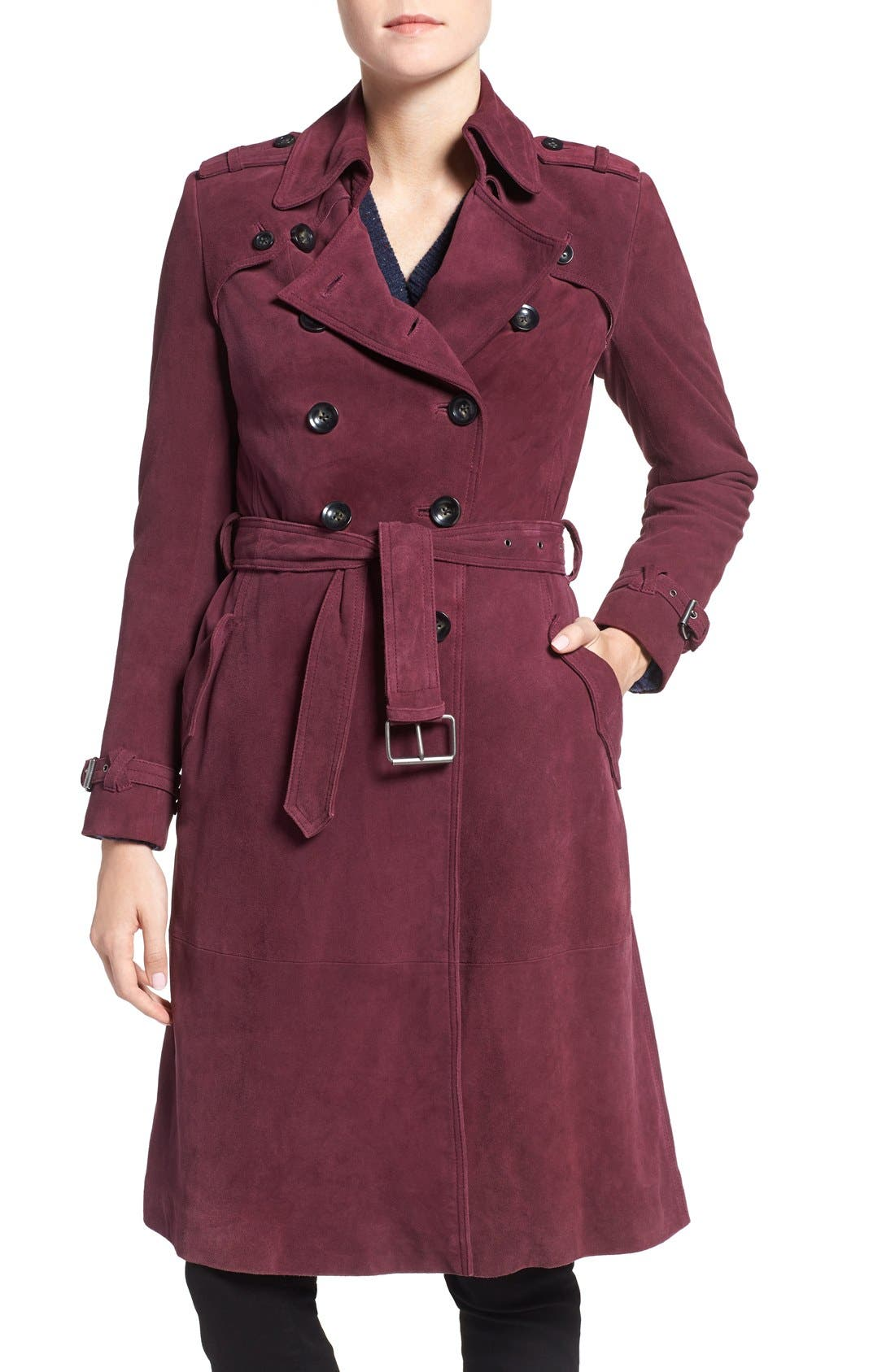 Alternate Image 4  - Rebecca Minkoff 'Amis' Double Breasted Suede Trench Coat