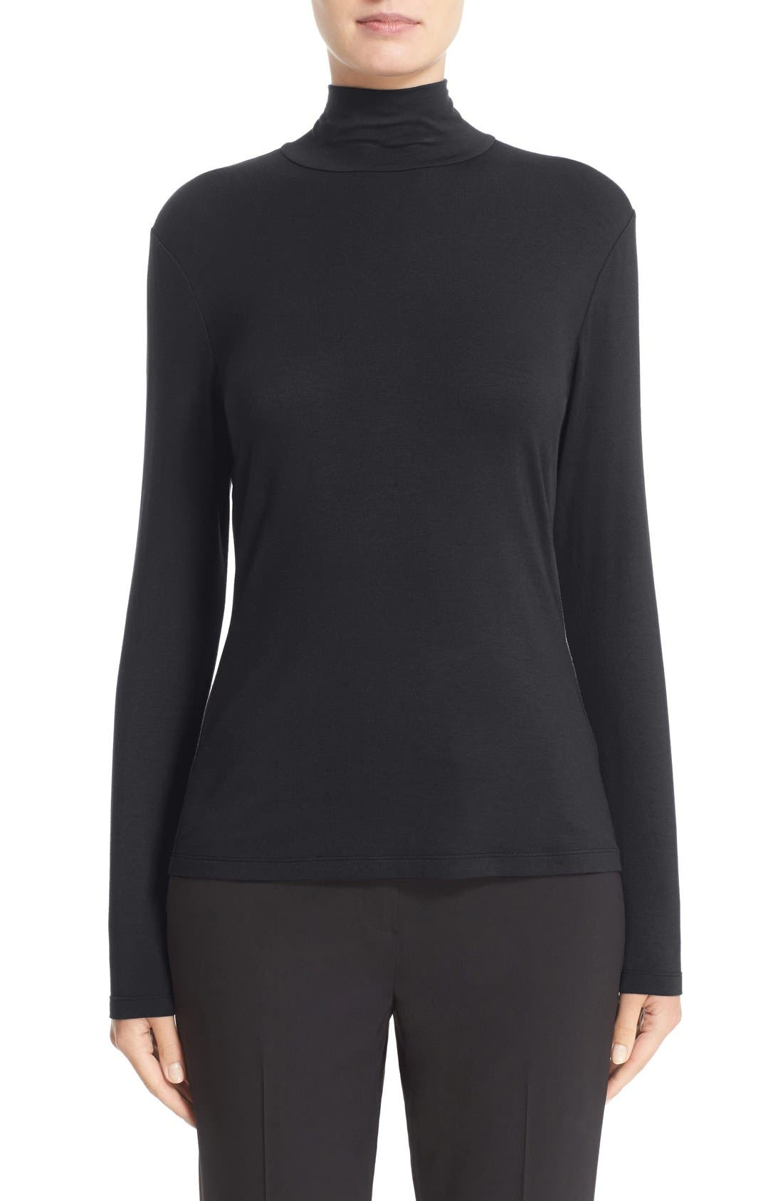 LAFAYETTE 148 NEW YORK Stretch Jersey Turtleneck