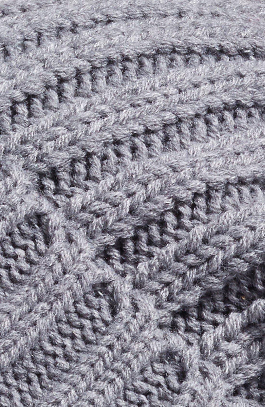 Alternate Image 2  - BP. Faux Fur Pom Rib Knit Beanie
