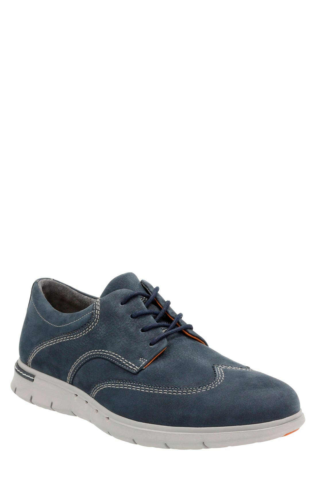 CLARKS® 'Unstructured - Byner Way' Wingtip Oxford