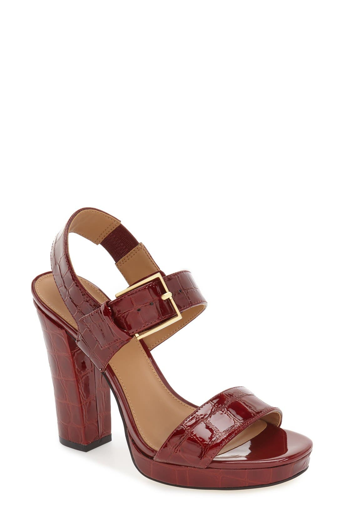 CALVIN KLEIN 'Bette' Block Heel Sandal