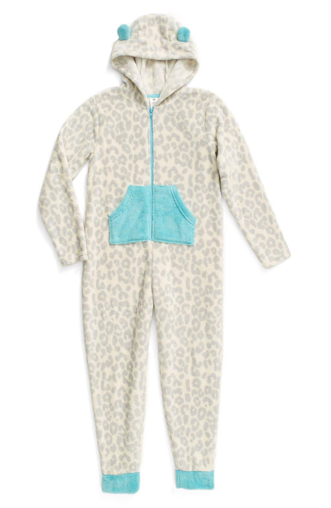 Alternate Image 1 Selected - Tucker + Tate One-Piece Pajamas (Little Girls & Big Girls)