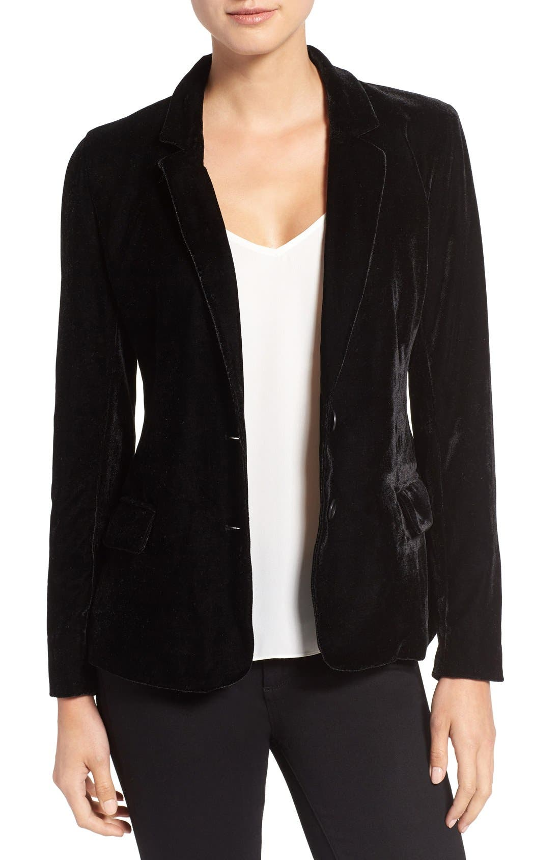 Main Image - cupcakes and cashmere 'Toby' Velvet Blazer