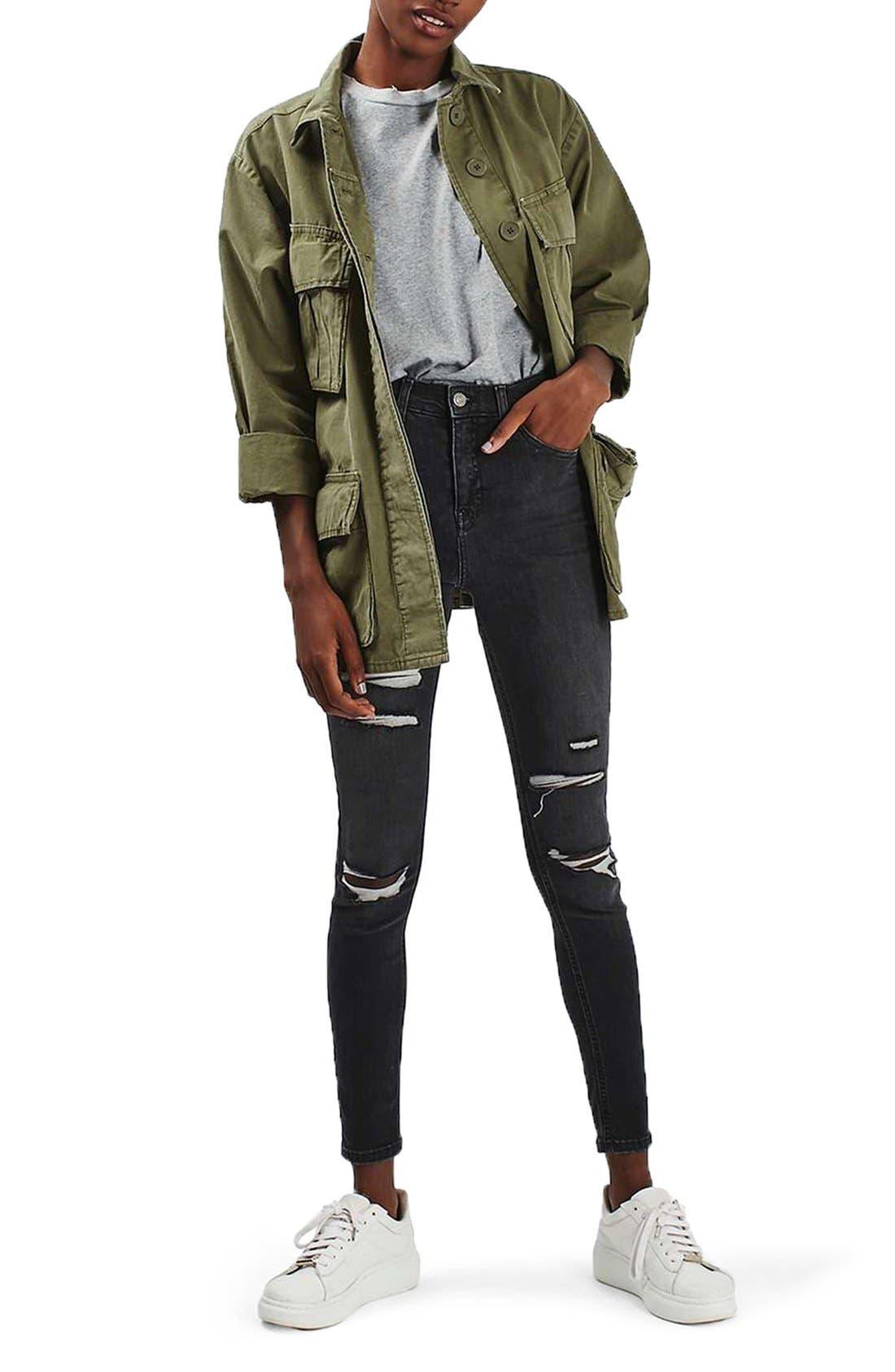 Alternate Image 3  - Topshop Oversize Army Shirt Jacket