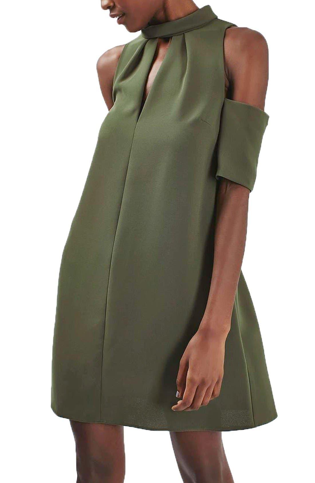 Alternate Image 1 Selected - Topshop Cold Shoulder Keyhole Dress