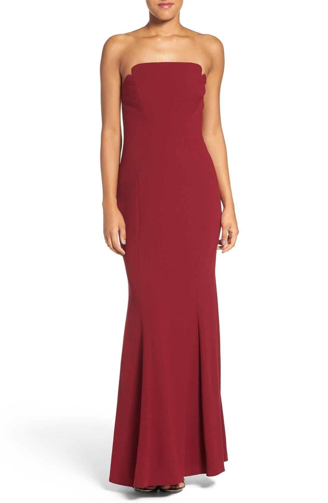Alternate Image 1 Selected - Jill Jill Stuart Notched Strapless Gown