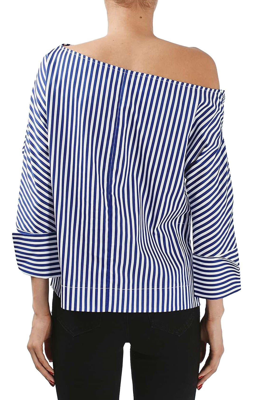 Alternate Image 3  - Topshop Boutique Stripe Twist Top