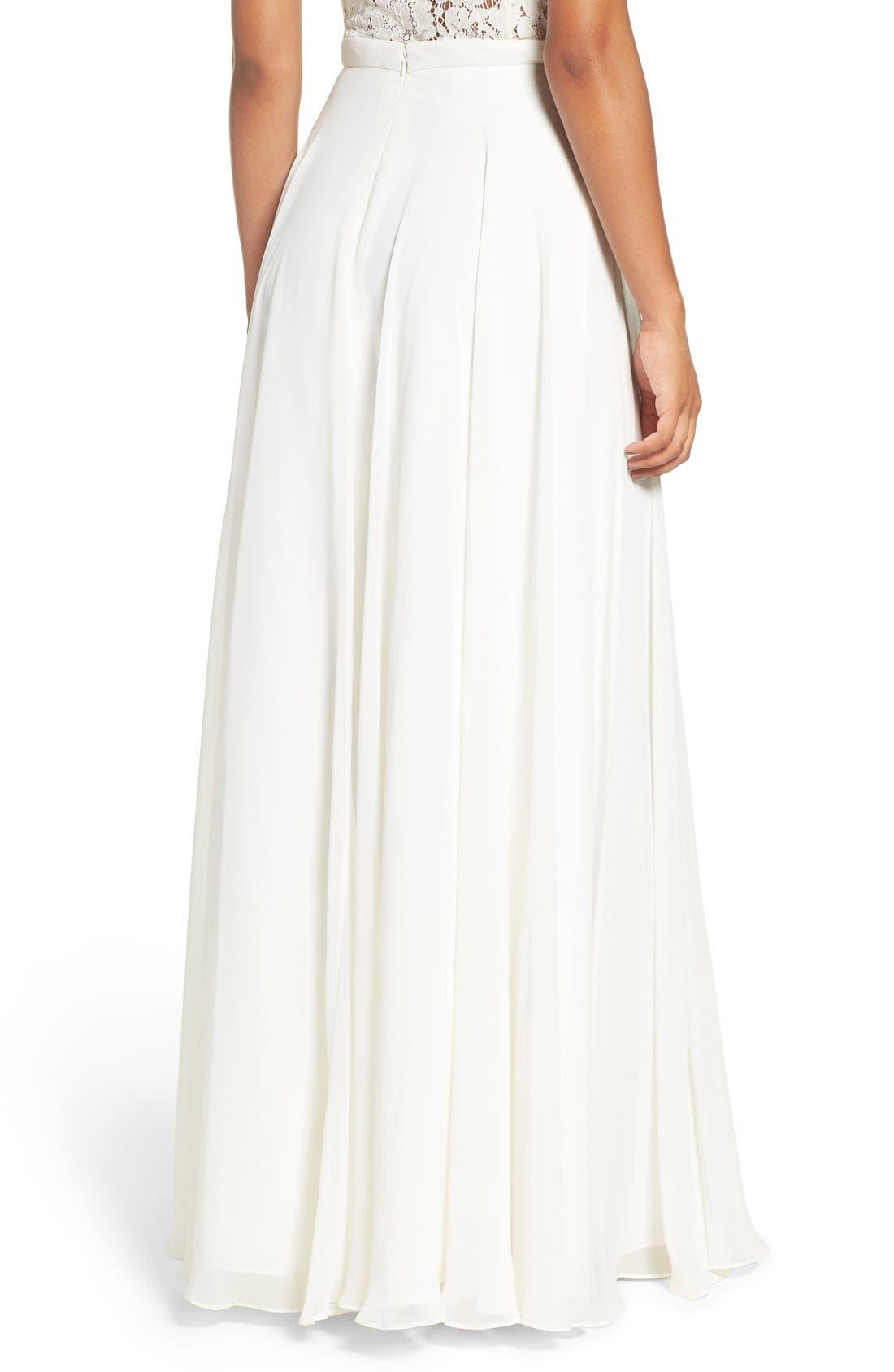Alternate Image 2  - Jenny Yoo 'Hampton' Long A-Line Chiffon Skirt