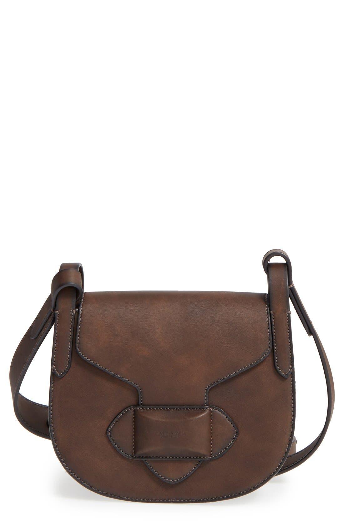 Michael Kors 'Daria' Leather Saddle Bag