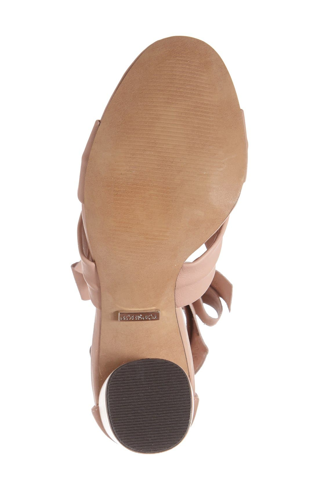 Alternate Image 4  - Topshop 'Rosetta' Soft Knot Wraparound Sandal (Women)