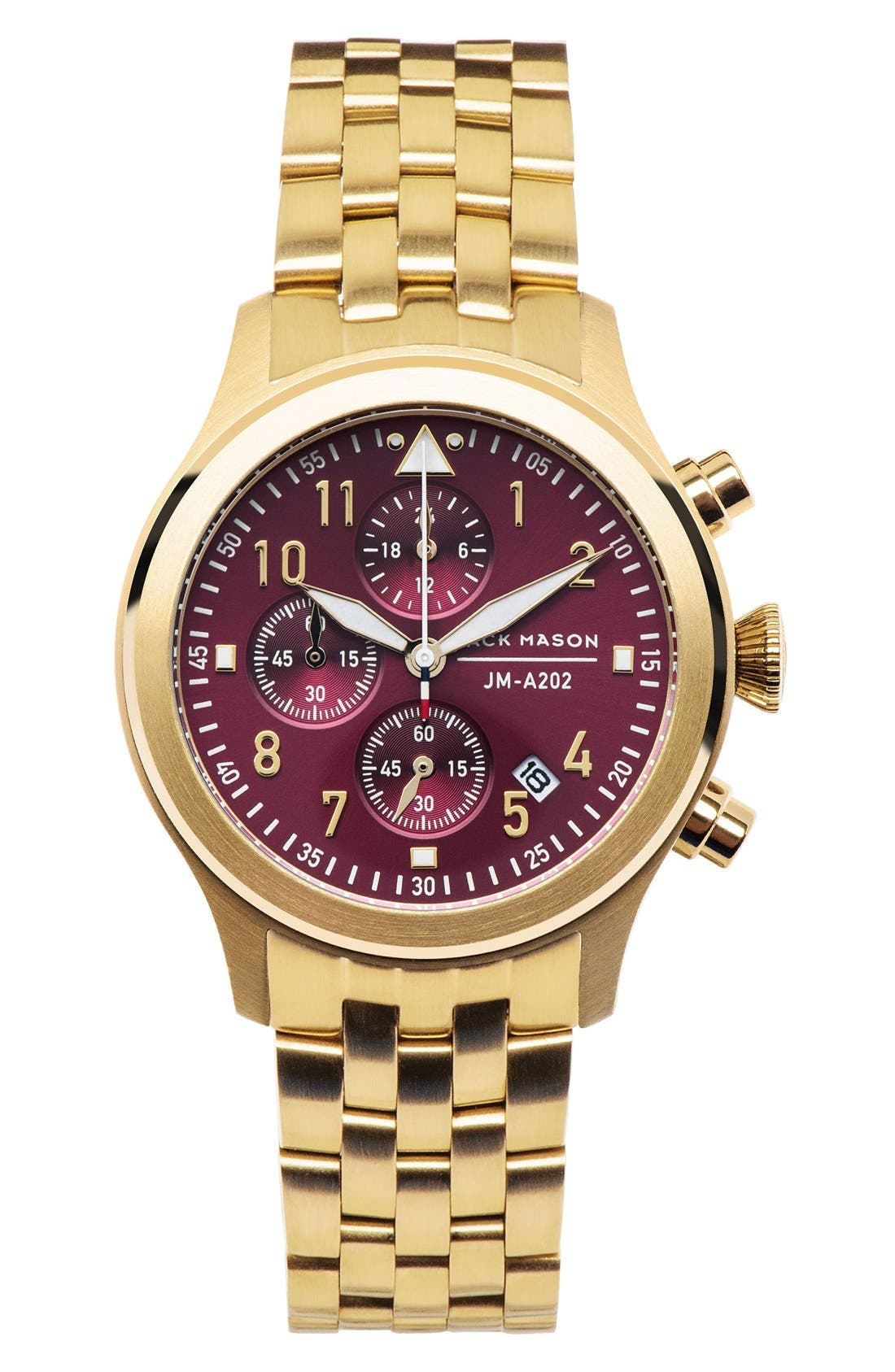 Alternate Image 1 Selected - Jack Mason Aviation Chronograph Bracelet Watch, 36mm