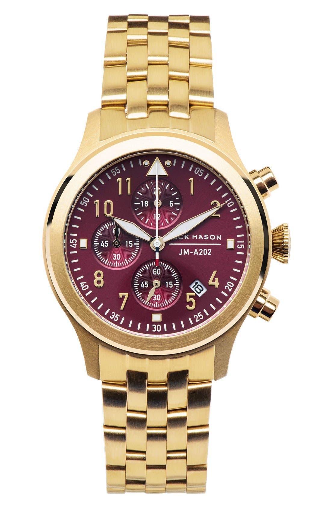 Main Image - Jack Mason Aviation Chronograph Bracelet Watch, 36mm