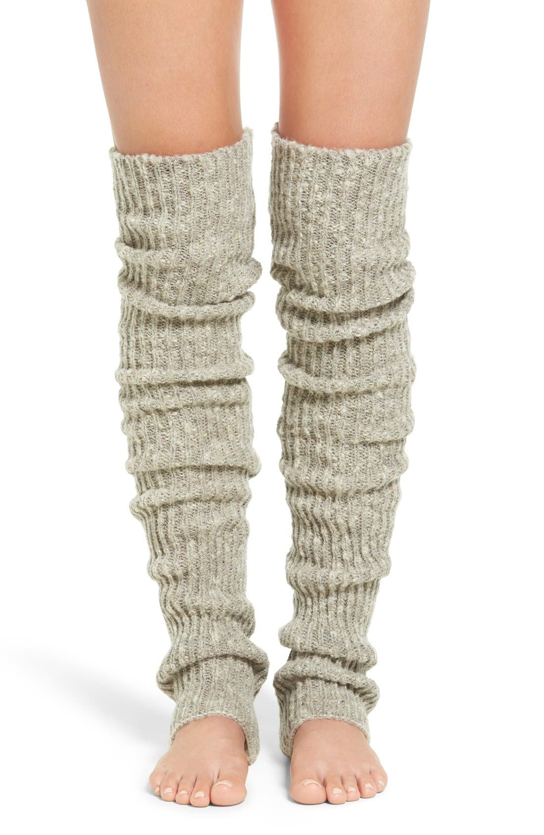 Alternate Image 1 Selected - Lemon 'Flurry' Rib Knit Leg Warmers