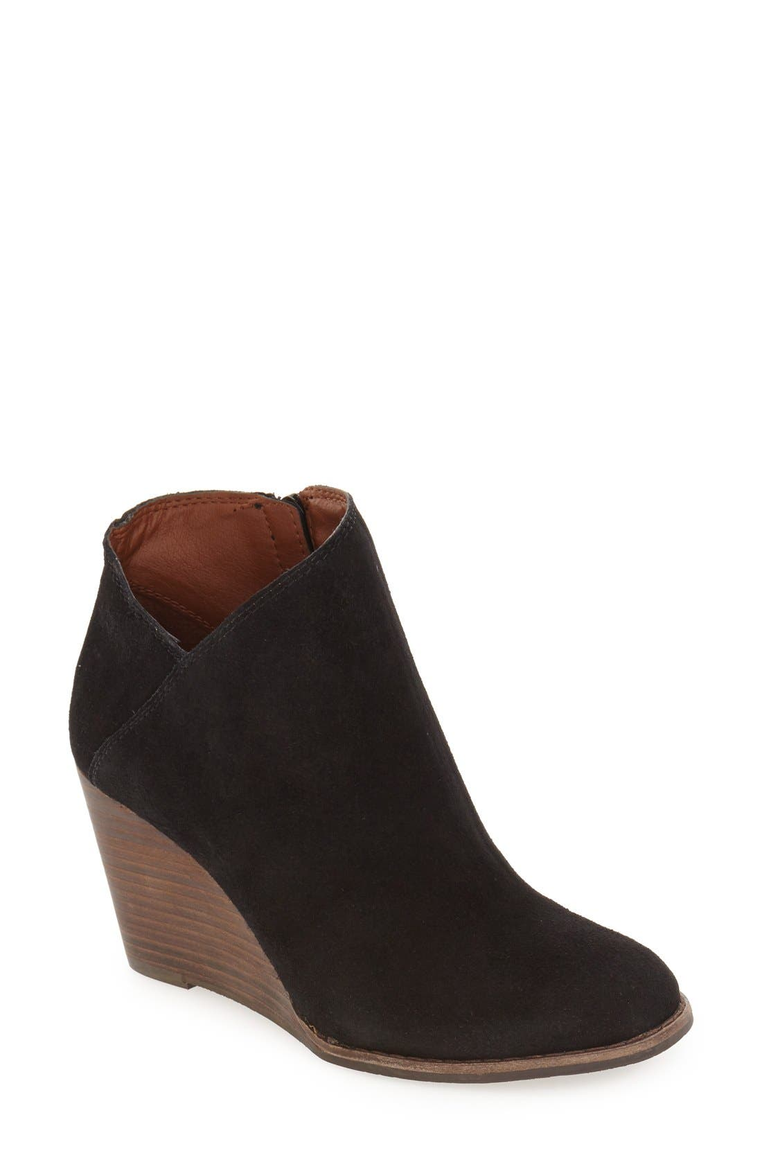 LUCKY BRAND 'Yakeena' Zip Wedge Bootie